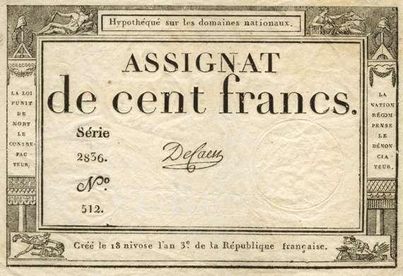 Assignat de 100 francs 1