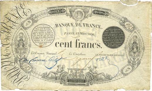 Billet de 100 francs 1856